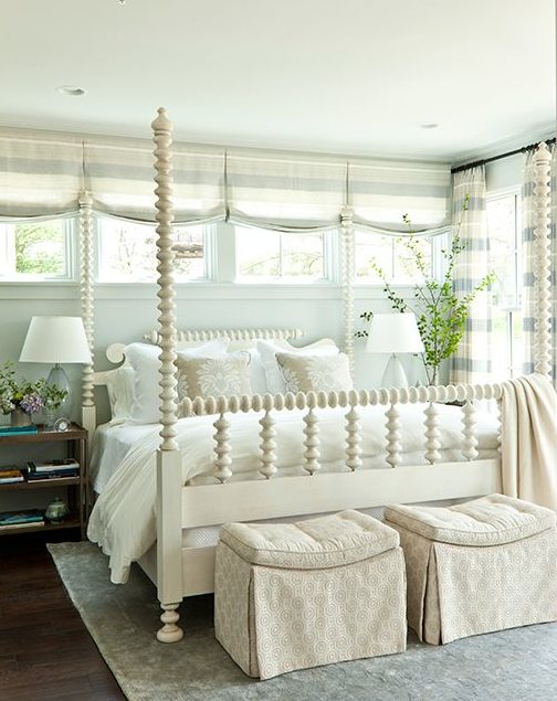 cute white post bed