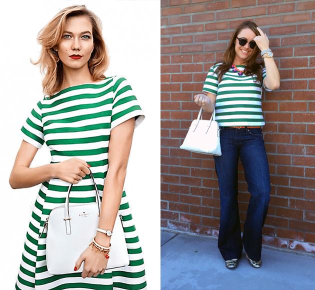 Kate Spade Green Stripe 1